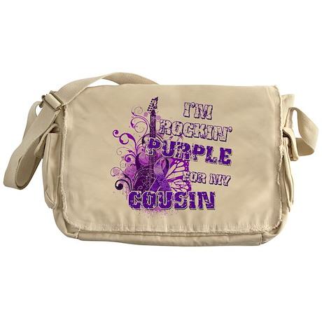 I'm Rockin' Purple for my Cou Messenger Bag