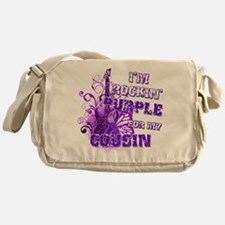 I'm Rockin' Purple for my Cou Messenger Bag