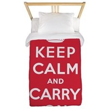 Keep Calm And Carry On Twin Duvet
