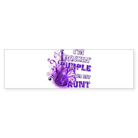 I'm Rockin' Purple for my Aun Sticker (Bumper)