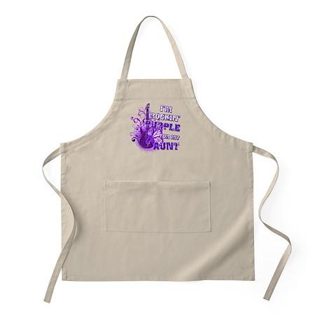 I'm Rockin' Purple for my Aun Apron
