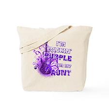 I'm Rockin' Purple for my Aun Tote Bag