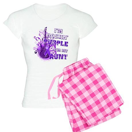I'm Rockin' Purple for my Aun Women's Light Pajama
