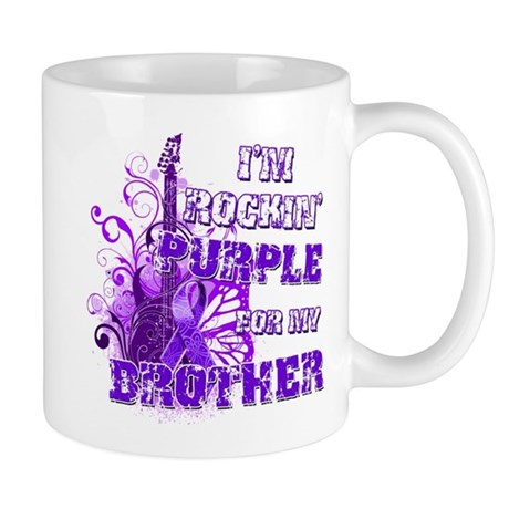 I'm Rockin' Purple for my Bro Mug