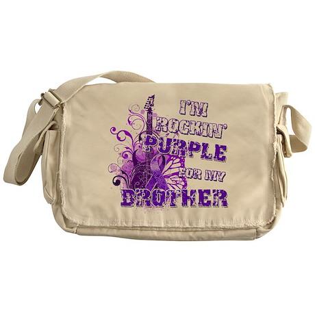 I'm Rockin' Purple for my Bro Messenger Bag