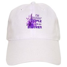 I'm Rockin' Purple for my Bro Baseball Cap