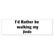 Rather: Jindo Bumper Bumper Sticker