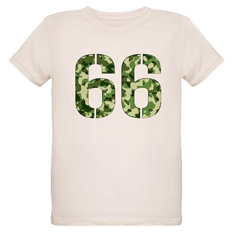 Number 66, Camo Organic Kids T-Shirt