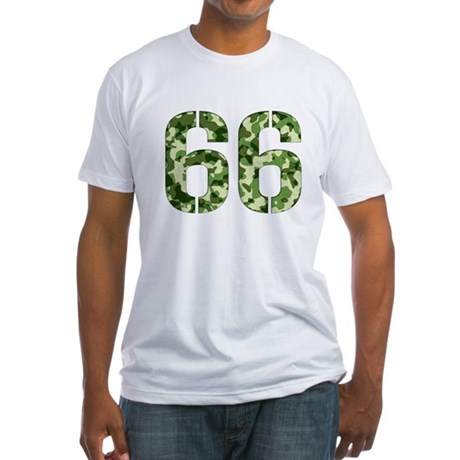 Number 66, Camo Fitted T-Shirt