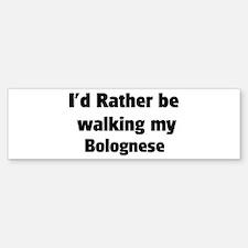 Rather: Bolognese Bumper Car Car Sticker
