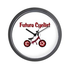 Future Cyclist Wall Clock