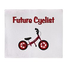 Future Cyclist Throw Blanket