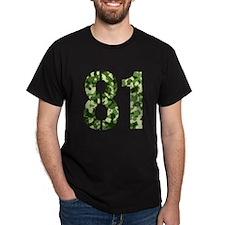 Number 81, Camo T-Shirt