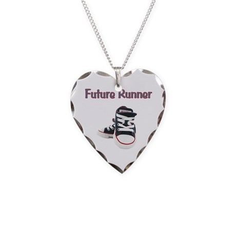 Future Runner Necklace Heart Charm