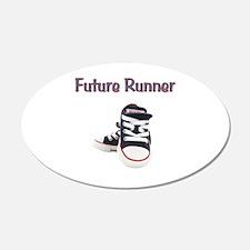Future Runner 22x14 Oval Wall Peel