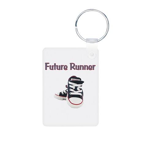 Future Runner Aluminum Photo Keychain