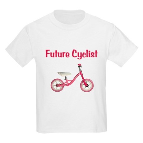 Future Girl Cyclist Kids Light T-Shirt