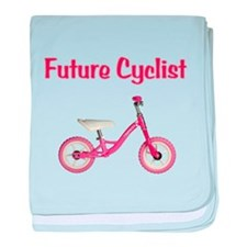 Future Girl Cyclist baby blanket