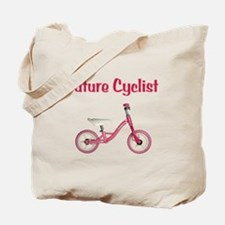 Future Girl Cyclist Tote Bag