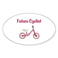 Future Girl Cyclist Decal
