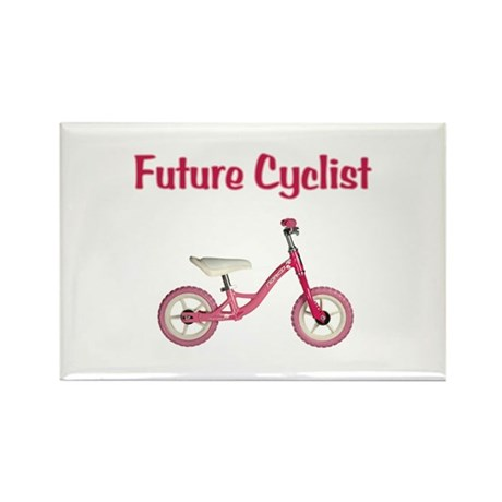 Future Girl Cyclist Rectangle Magnet (10 pack)