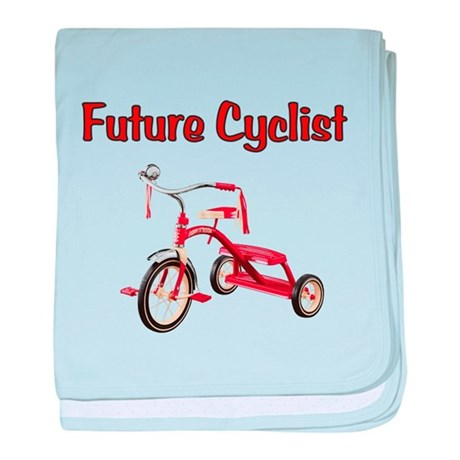 Future Cyclist Trike baby blanket