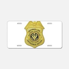 Retired Law Enforcement Aluminum License Plate
