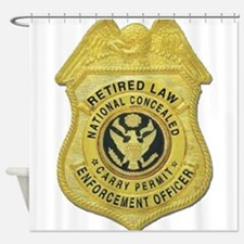 Retired Law Enforcement Shower Curtain