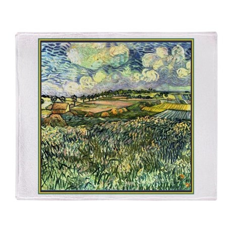 Van Gogh Pastoral Throw Blanket