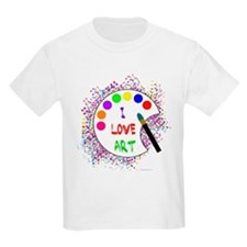 I Love Art Kids T-Shirt