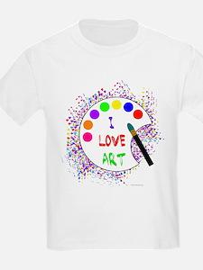 I Love Art Kids T-Shirt