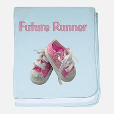 Future Girl Runner baby blanket