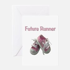 Future Girl Runner Greeting Card