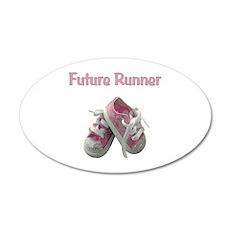Future Girl Runner 22x14 Oval Wall Peel