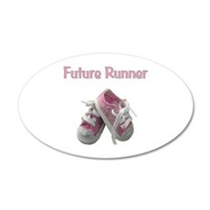 Future Girl Runner 38.5 x 24.5 Oval Wall Peel