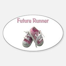 Future Girl Runner Sticker (Oval)