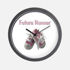 Future Girl Runner Wall Clock