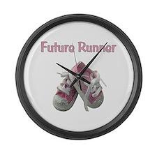 Future Girl Runner Large Wall Clock