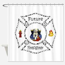 Future Firefighter Dalmatian Shower Curtain