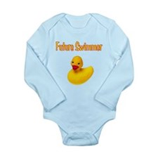 Future Swimmer Long Sleeve Infant Bodysuit