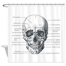 Skull Forward Shower Curtain