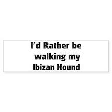 Rather: Ibizan Hound Bumper Bumper Sticker