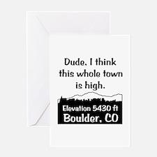 Boulder High Town Greeting Card
