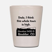 Boulder High Town Shot Glass