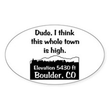 Boulder High Town Decal