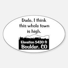 Boulder High Town Decal
