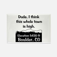 Boulder High Town Rectangle Magnet