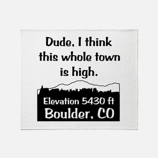 Boulder High Town Throw Blanket