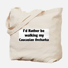 Rather: Caucasian Ovcharka Tote Bag