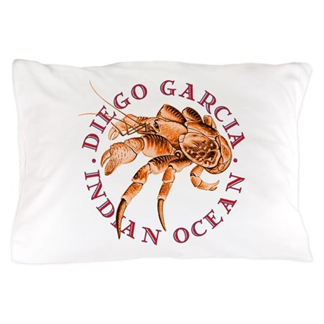 Blue Coconut Crab Pillow Case